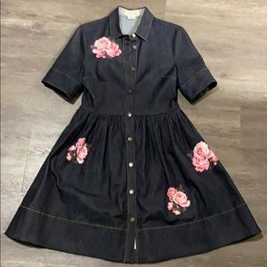 Kate Spade Denim Fit and Flair dress